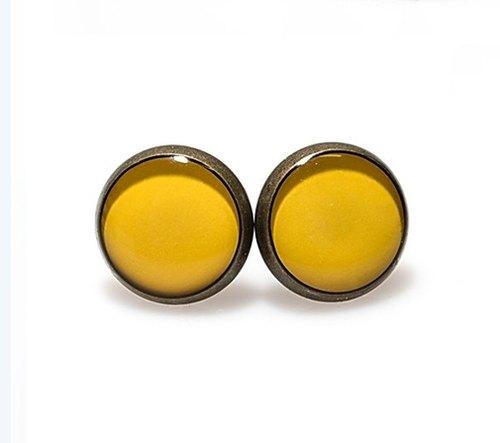 【yellow】哈罗我的小太阳!-古铜系手工创作耳环