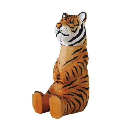 suss-日本手工木头雕刻超可爱原子笔/名片座/手机座 (大老虎造型)