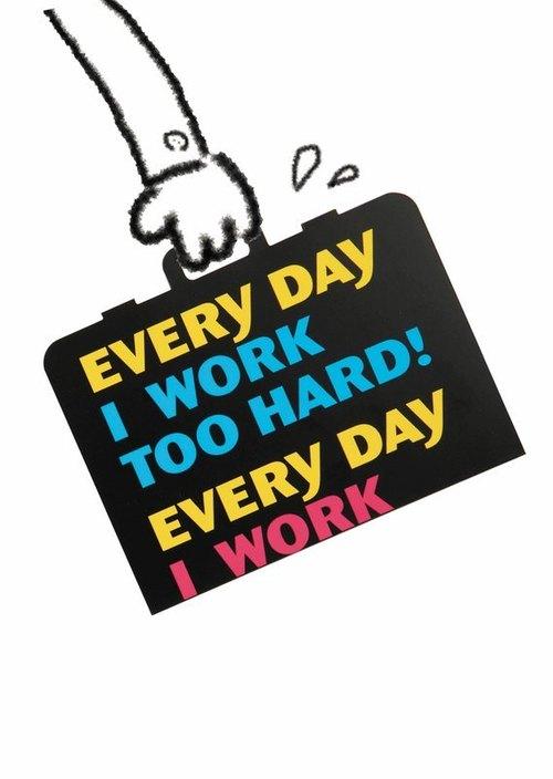 趣味數位卡片-努力工作Work Hard
