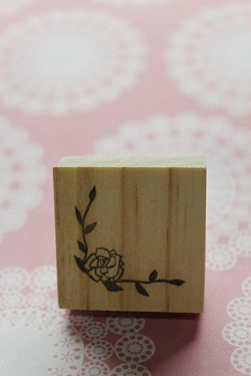 手刻印章 / 玫瑰花角章