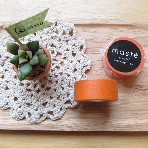 maste Masking Tape 和紙膠帶 Basic 復古暖色系【溫暖橘 (MST-MKT04-OR)】