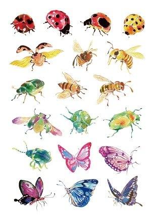 花間四君-明信片版 Four Insects Postcard Set