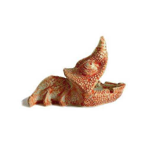 爬行冷血动物鳄鱼手工创意陶瓷雕塑摆件烟灰缸家居装饰创意摆设