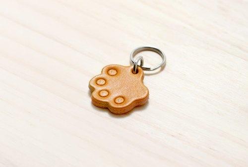 【LION's】手工皮革 皮件-- 貓狗 寵物名牌 鑰匙圈(小) |附客製鋼印