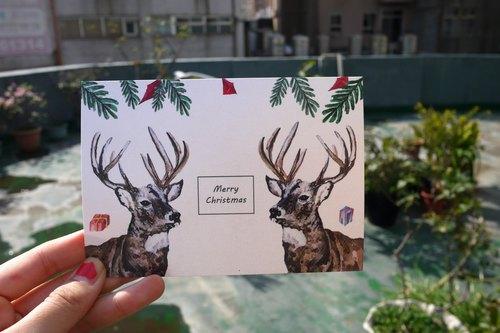 手绘圣诞卡片x麋鹿巡礼篇