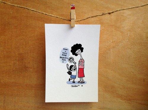母亲节明信片 - 您好漂亮