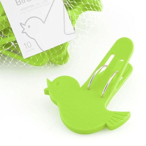 日本hidetide 小鸟洗衣夹青绿