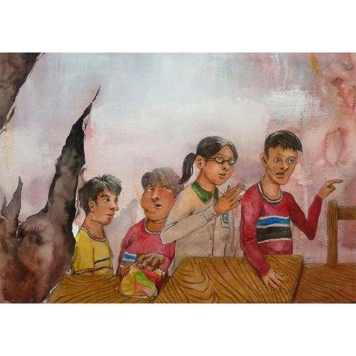 繪本風格手繪人物群像