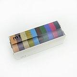 mt 和紙膠帶 10色盒裝組【暗色(MT10P004)】