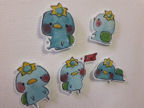 卡帕kappa貼紙(五入一組)