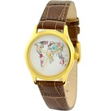 女裝世界地圖手錶金殼