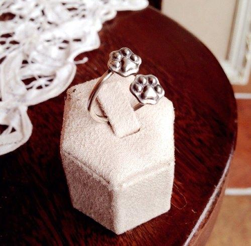 純銀貓肉球戒指 / 肉球的足跡 / Sterling Silver Cat Paw Ring