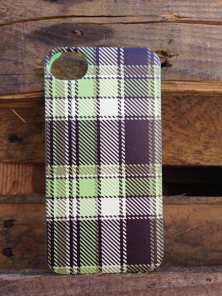 SODACASE Plaid系列 Ryan圖案 中秋草綠蘇格蘭格子圖案 iPhone4/4S 手機殼 保護殼
