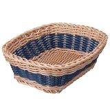 【新品】CB拉丁系列可水洗置物籃 方型 仿藤雙色-藍(共3色)