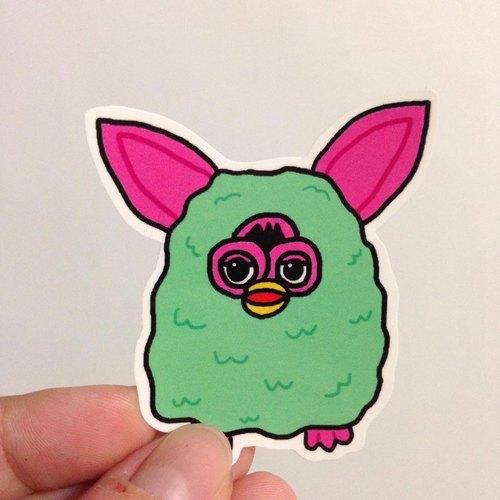 571/ Furby!菲比小精靈貼紙 (六款)