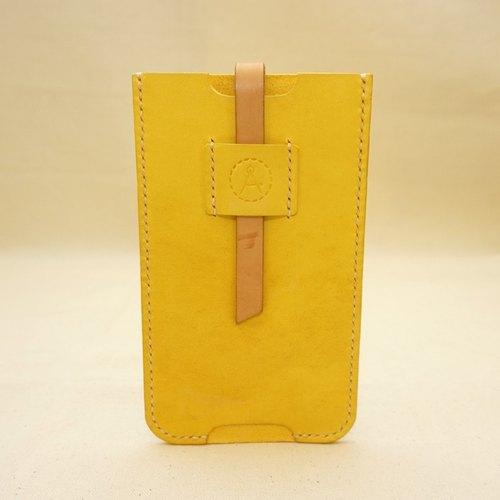 (福利品)檸檬黃澄澄-iphone 6s plus皮革手機套