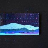 我的大塊風景 ✮衛星男孩、山、天空(藍) 小張貼紙
