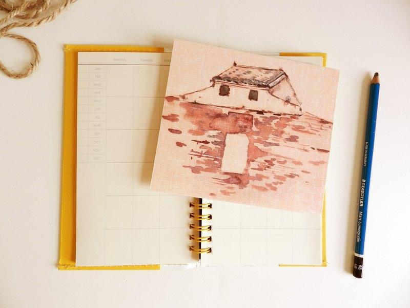 手绘城市明信片-建筑 - 设计师 纸上城市 illustrate