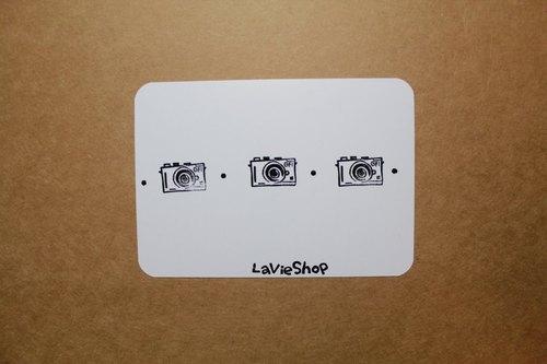 【LaVieShop*手作雜貨】相機排排站 GF1 微單眼相機 EVIL.手工刻印明信片/卡片.高質感防水相紙