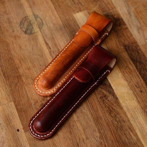 純手工 義大利植鞣革牛皮 單只裝鋼筆套 LAMY適用
