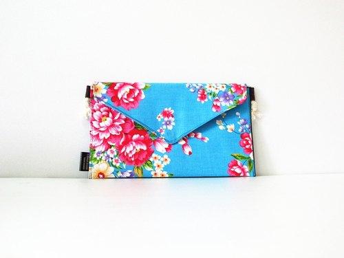 【手拿包/側背包/信封包/Dream Bag-客家牡丹藍】母親節首選
