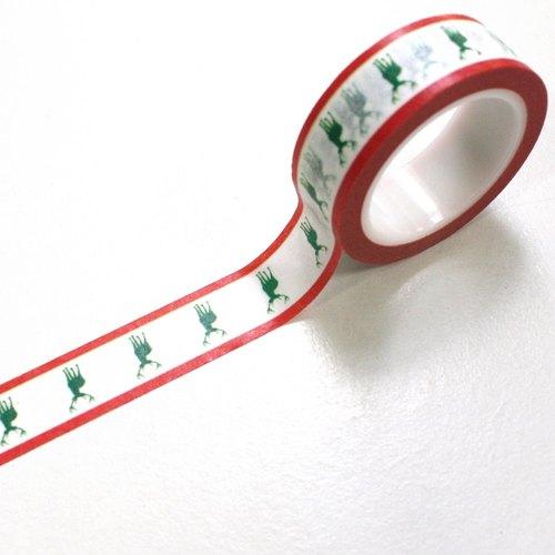 聖誕節限定 X'MAS 紙膠帶 B09 馴鹿的銀色聖誕