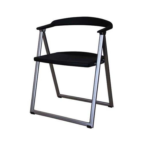 NO.200-1 可收納-會議摺疊椅-黑色