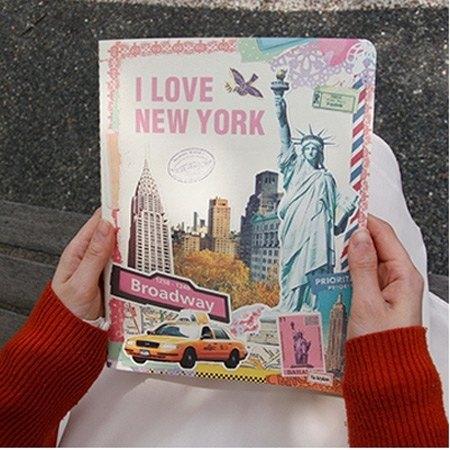 Dessin x 7321 Design-Vintage 條紋筆記本(L)-紐約,7321-01644