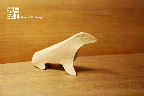 木头动物系列摆饰.海狮 手工制作 限量商品