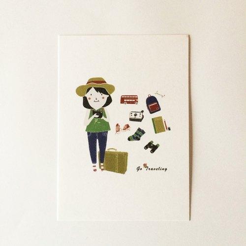 Go travel 旅行明信片