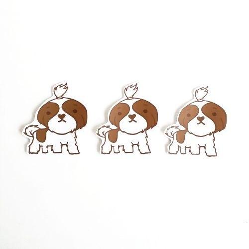 1212玩樂設計 逗趣到處貼 防水貼紙-西施犬(棕色)