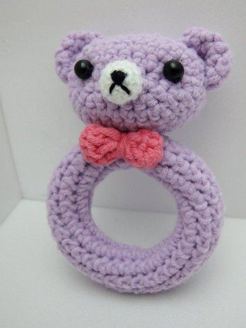 熊宝宝.毛线针织手摇铃 ~ 最可爱的弥月礼