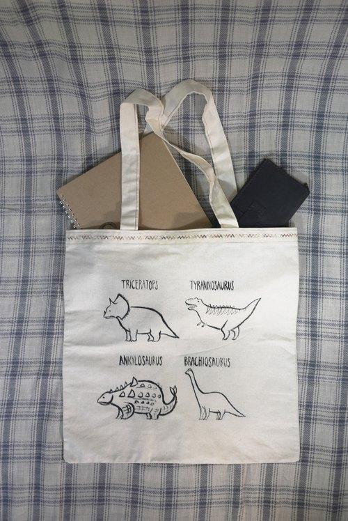 手绘帆布袋/dinosaur
