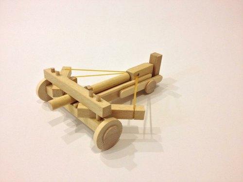 手工木制轻型弩炮车