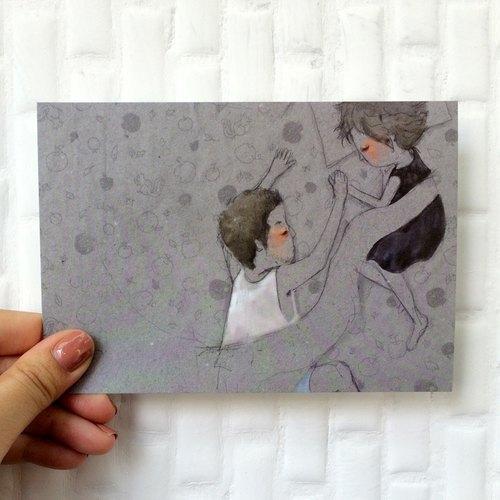 ┇eyesQu┇奔馳之間┇插畫明信片