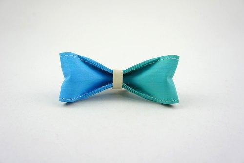 10/10 十分设计《迷人蓝x绿》手工制作双色领结(圣诞礼物/纸领结,蝴蝶