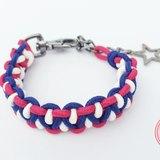紅藍白三色編織(正常粗度)