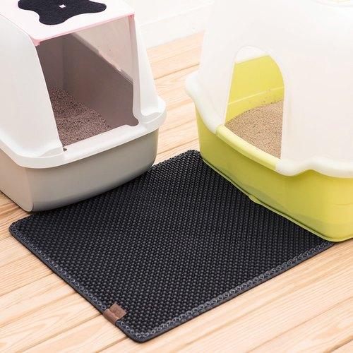 【韓國Blackhole Cat Litter Mat®】榮獲美國專利 落貓砂墊 - 實用正方形(黑色)
