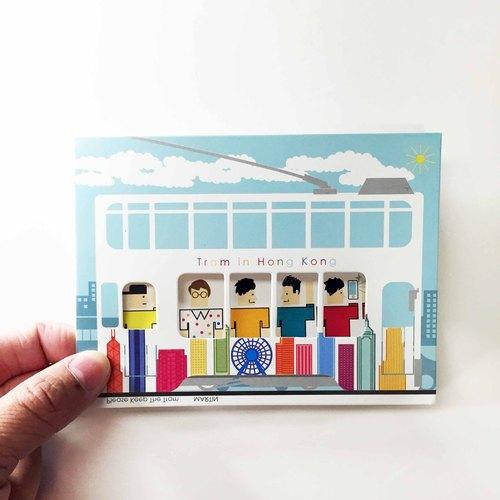April4 Design - 香港電車名信片 - HK Tram Postcard - 相遇在叮叮