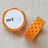 mt 和紙膠帶 fab 植絨系列【水玉款 黃+紅(MTFL1P08)】