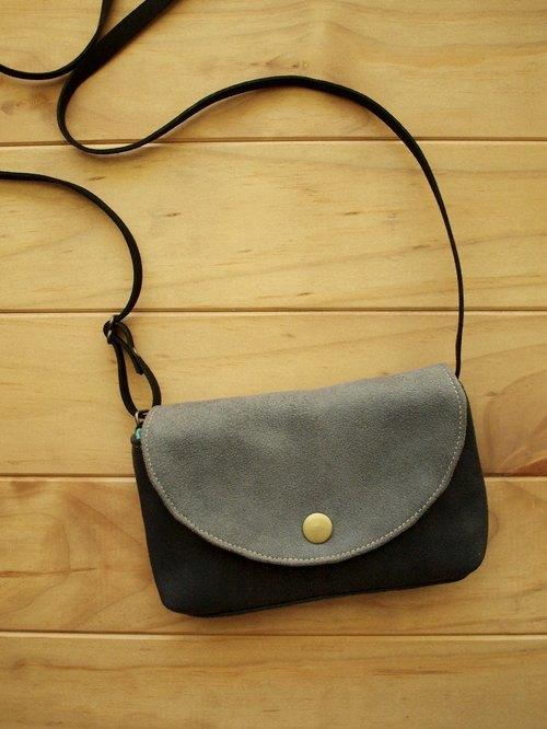 1pinfun 独家设计 小包人肩包 (夹层版) 黑灰 / 砖红