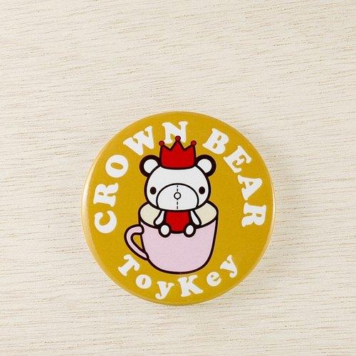 coffee&crown bear 咖啡皇冠熊 (toykey 玩具所 胸章)图片