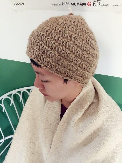 手工编织纯麻料圆帽 - 海边的司厨 杂货 | pinkoi