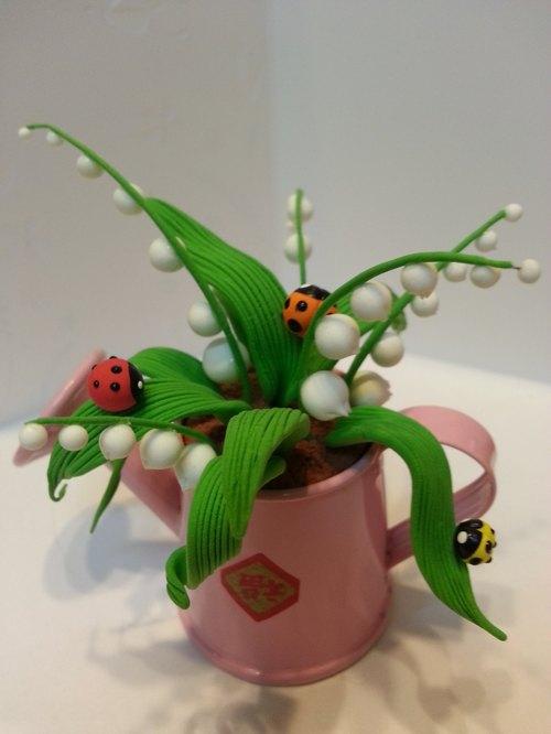用黏土做的小植物的步骤图