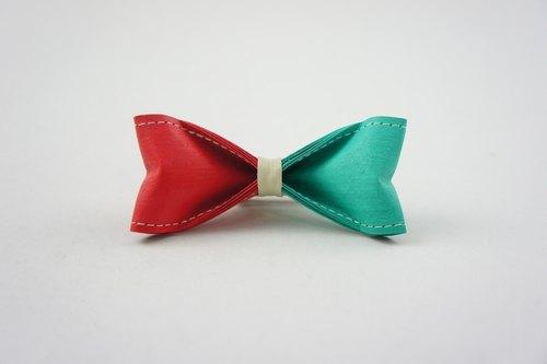 十分设计 手工制作双色领结(纸领结,蝴蝶结,领带)《双色 甜美樱桃x