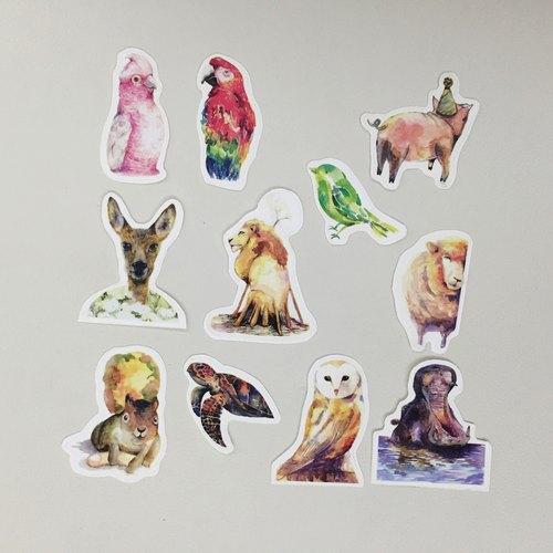 动物贴纸 (中)