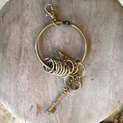 鑰匙圈/仿舊復古守門人大鑰匙圈-公主鑰匙