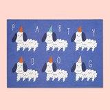 派對狗明信片