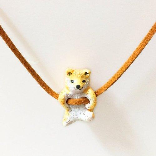 柴犬动物手工手绘颈链/坠子 shiba inu handmade necklace