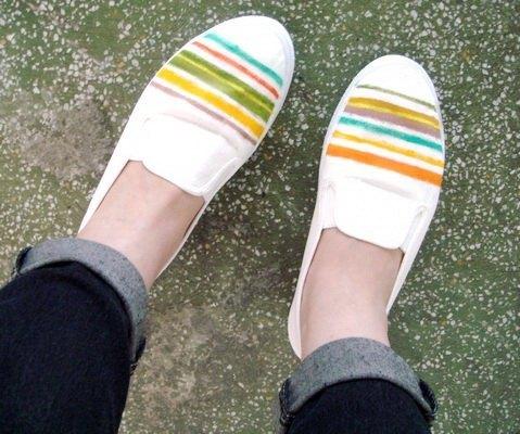 (客製化商品)簡約風格.手繪鞋